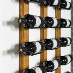 Wall Wine rack Cradle on Oak