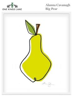My Giclee print available on One's kings lane  99.00 #illustration #fruit #food #draw  copyright Alanna Cavanagh