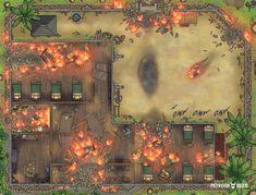 Dungeon Tiles, Dungeon Maps, Fantasy Town, Fantasy Map, Dnd World Map, Fantasy Rpg Games, Pathfinder Maps, Rpg Map, Epic Art
