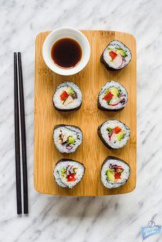 Sushi z czerwoną kapustą