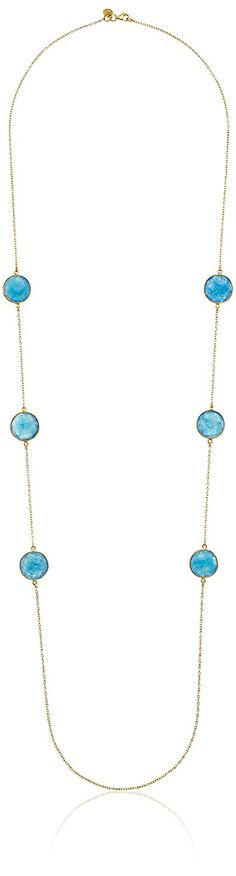Argento Vivo Sterling Silver Blue Aventurine Long Strand Necklace, 32' *** Check this awesome product by going to the link at the image.