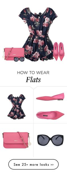 """""""Pink flowers"""" by lenaick on Polyvore"""