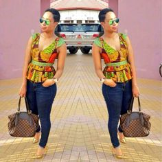 latest african fashion look 186 African Tops, African Dresses For Women, African Print Dresses, African Attire, African Wear, African Women, African Prints, African Style, African Beauty