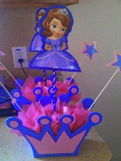 Como Hacer Centro De Mesa Con Muneca Plastica De Princesa Sofia ...