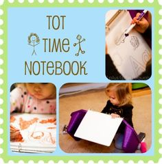 Tot Time Notebook printables.  Have A-Z Coloring and Tracing pages and numbers and shapes pages.  Print out and put in sheet protectors in a binder so that tots can use a dry erase marker/color to write on over and over.