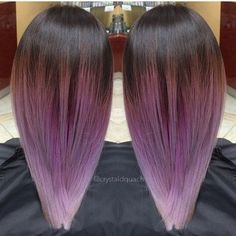 dark+brown+to+lavender+ombre