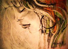 Egy kis gyors rajz. Grafit, szén, kréta, fotokarton. 20x30cm. Techno, Painting, Painting Art, Paintings, Paint, Draw