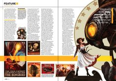 Magazine game layout Magazine Page Layouts, Magazine Layout Design, Newspaper Layout, Newspaper Design, Gaming Magazines, Gallery Magazine, Couture Trends, Lay Outs, Layout Inspiration