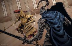 Dark Souls: Artorias vs Ornstein by MenasLG.deviantart.com on @DeviantArt