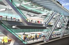 NORTH/SOUTH LINE UNDERGROUND STATIONS, AMSTERDAM by Benthem Crouwel Architects as architect