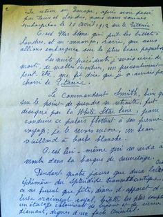 REQUEST. I own the only set of letters written by Rose Amélie Icard (longest French living titanic survivor) describing a first hand account of what happened as the titanic sank. It's written in French & I would love to have it translated so I could have them framed. (translated on reddit.com)