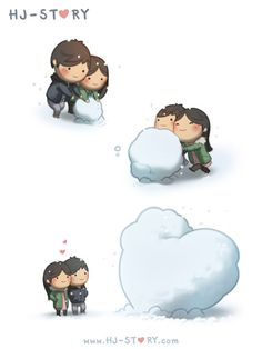 "Check out the comic ""HJ-Story :: Snow"" http://tapastic.com/episode/11866"