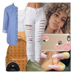 """""""Back2school #17"""" by msixo ❤ liked on Polyvore featuring Casetify, LE3NO, Fremada, MCM, Topshop and adidas"""