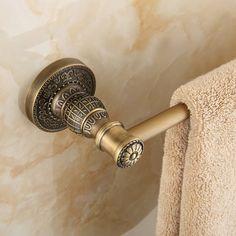 Bon Antique Single Towel Bar/Continental Carved Towel Bar/ Vintage Towel Rack/Bathroom  Hardware