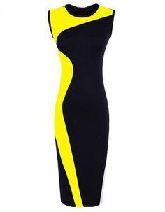 Bandage Dress O-Neck Bodycon Party Evening Slim Pencil Dress 51