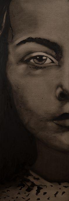 Huile sur toile 40x120 Fabienne Roux ©