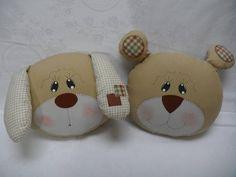 Almofadas cachorrinho e ursinho