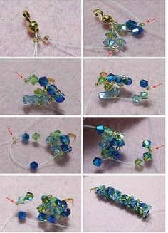 Diagram on how to make blue and green bracelet (2 of 2)