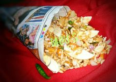 Egg bhel puri Recipe by MOUSUMI MANNA - Cookpad India Puri Recipes, Egg Recipes, Great Recipes, Savory Snacks, Healthy Snacks, Bhel Puri Recipe, Tamarind Juice, Dried Mangoes, Puffed Rice