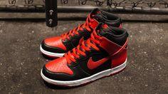"Nike Dunk High ""J-Pack"" – Black/Sport Red – White"