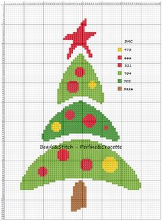 Ricami e schemi x punto croce, piantine e. Cross Stitch Christmas Ornaments, Xmas Cross Stitch, Cross Stitch Needles, Cross Stitch Cards, Christmas Cross, Cross Stitching, Cross Stitch Embroidery, Christmas Tree, Modern Cross Stitch Patterns