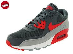 Nike Womens Air Max 90 Essential Grey Red Mesh Trainers 39 EU - Nike schuhe (*Partner-Link)