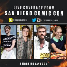 Follow The Hunger Games across the web for LIVE coverage from ComicCon! #MockingjaySDCC