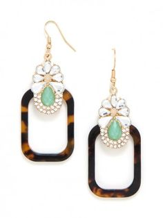 the pop of mint really makes these drops extra gorg!