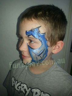 Face paint dragon under 5 min face painting ideas for kids