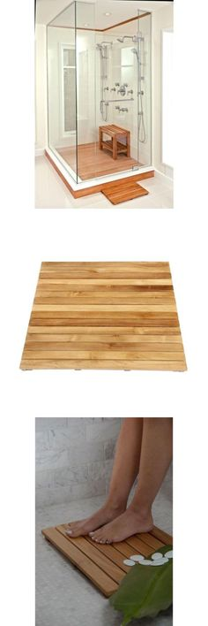 Non-Slip Appliques and Mats 66722: High Quality Teak Heavy Duty Bathroom Shower Step Non Slip Bath Mat 36 X 30 -> BUY IT NOW ONLY: $454.41 on eBay!