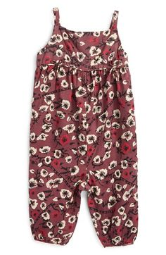 Burberry Floral Romper (Baby Girls) available at #Nordstrom