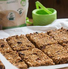 Le nostre ricette: Barrette di amaranto, avena e frutta disidratata . Lasciati ispirare dalle ricette golosiane e dai prodotti Nuova Terra!