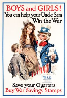 flagg, james montgomery poster: boys and girls! buy war savings stamps