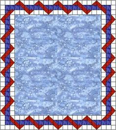 """Entwined Quilt Border"""" This makes it easy to see how to get this effect. Dog Quilts, Panel Quilts, Scrappy Quilts, Quilting Tutorials, Quilting Projects, Quilting Designs, Quilting Ideas, Colchas Quilt, Quilt Binding"""