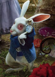 """"""" The White Rabbit is a fictional character from the novel Alice's Adventures in Wonderland by Lewis Carroll. Michael Sheen voices the White Rabbit in the 2010 movie and the Disney film. Alice Rabbit, White Rabbit Alice In Wonderland, Alice In Wonderland Tea Party, White Rabbit Movie, Disney Kunst, Arte Disney, Disney Art, White Rabbit Tattoo, Rabbit Tattoos"""