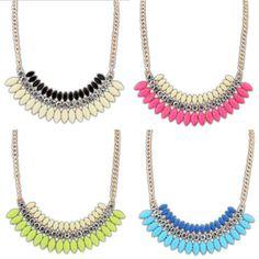New Fashion Women Crystal Chain Statement Bib Necklace Choker Chunky Jewelry Pendant