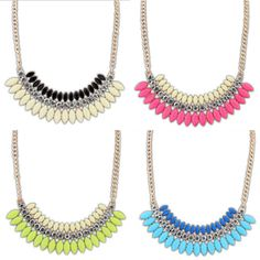 New Fashion Women Crystal Chain Statement Bib Necklace Choker Chunky Jewelry Pendant-in Chain Necklaces from Jewelry on Aliexpress.com | Alibaba Group