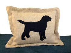 Labrador Hessian Cushion