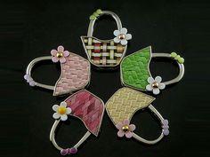 Fashion creative gift bag-shape floding purse hook bag hanger