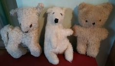 THREE SMALL VINTAGE STUFFED TOYS, LAMB, POLAR BEAR & TEDDY, OLD, UNBRANDED  in Toys & Games, Vintage & Classic Toys, Other Vintage & Classic Toys | eBay!