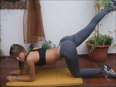 sexy fit woman in yoga pants