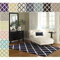 Hand-hooked Alexa Moroccan Trellis Wool Rug (7'6 x 9'6)