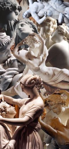 Aesthetic Painting, Aesthetic Art, Greek Statues, Wallpaper Backgrounds, Iphone Wallpapers, Greek Art, Old Paintings, Photo Wall Collage, Classical Art