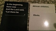 Funny Cards Against Humanity Meme : Cards against humanity a very adult version of apples to apples