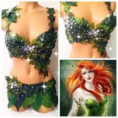 Reserved for ChristinaPoison ivy Costume by TheLoveShackk on Etsy