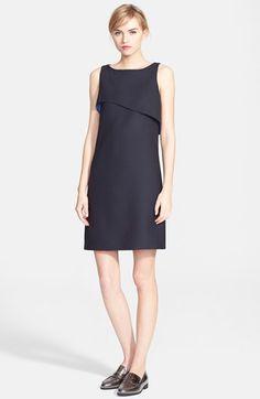 Oscar+de+la+Renta+Double+Face+Stretch+Wool+Shift+Dress+available+at+#Nordstrom