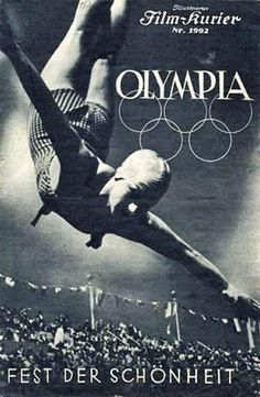 documentary D: Leni Riefenstahl. Leni Riefenstahl, Nazi Propaganda, Ww2 Posters, Travel Posters, Sports Posters, Vintage Ads, Vintage Posters, Vintage Woman, Berlin Olympics