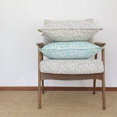 Elle Kay Fabrics Kite Cushion Covers comes in two colours, Titanium and Aqua Black Cushions, Thing 1, Fabric Labels, Kite, Cushion Covers, Your Space, Mosaic, Aqua, Fabrics