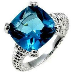 Rhodium 4 Carat Aquamarine CZ Solitare Ring  Size 9 - Solitare Ring - Ideas of Solitare Ring #solitarering #ring #engagementring -  0  The post Rhodium 4 Carat Aquamarine CZ Solitare Ring  Size 9 appeared first on Awesome Jewelry. Engagement Ring Sizes, Diamond Engagement Rings, Cushion Ring, Cushion Cut, Fantasy Jewelry, Size 10 Rings, Eternity Ring, Cocktail Rings, Beautiful Rings