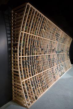 Wine Rack Storage, Wine Rack Wall, Wine Wall, Wine Cellar Basement, Wine Cellar Racks, Boat Building, Wine Bottle Wall, Home Wine Cellars, Beer Shop